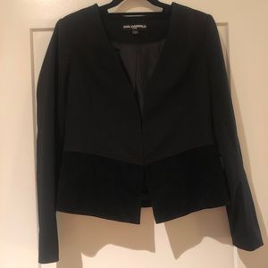 KARL LAGERFELD Holiday Blazer with Suede Detail